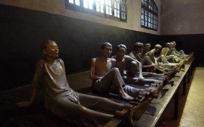 Présence de prisionniers politiques dans la maison centrale d'Hanoi durant la période coloniale française.